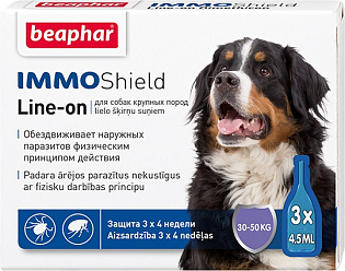 Beaphar IMMOShield Line-on Капли от паразитов для собак крупных пород