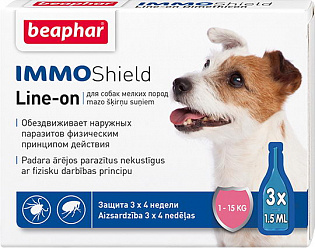 Beaphar IMMOShield Line-on Капли от паразитов для собак мелких пород